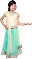 Tiny Toon Girls Lehenga Choli Fusion Wear Embroidered Lehenga, Choli and Dupatta Set(Blue, Pack of 1)