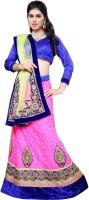 Aasvaa Self Design Lehenga Choli(Pink, Light Green)