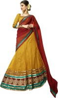 Kanheyas Net Embroidered Semi-stitched Lehenga Choli Material