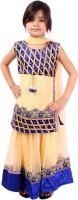 Tiny Toon Girls Lehenga Choli Ethnic Wear Embroidered Lehenga, Choli and Dupatta Set(Blue, Pack of 1)