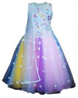 Angel wears Girls Lehenga Choli Ethnic Wear Self Design Lehenga Choli and Dupatta Set(Multicolor Pack of 1)