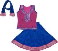 BownBee Girls Lehenga Choli Ethnic Wear Embroidered Ghagra, Choli, Dupatta Set(Multicolor, Pack of 1)