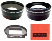 Big Mikes 52Mm 2X Telephoto Lens + 52Mm 0.45X Wide Angle Lens With Macro For Gopro Camera  Lens(Black)