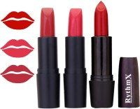 Rythmx OTG Coffee Rosty Red,Frosty Red,Deep Red Colour Shades Lipstick(12 g, 1290 Multicolor)