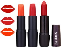 Rythmx OTG Coffee Fantasy Orange,Shiny Red,Red, Colour Shades Lipstick(12 g, 1291 Multicolor)