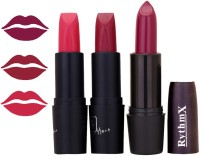 Rythmx OTG Hot Pink,Mauve,Wine,Colour Shades Lipstick 9(12 g, Multicolor,)