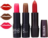 Rythmx OTG Neon Pink,Brown,Red Colour Shades Lipstick(1293 Multicolor)