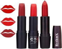 Rythmx OTG Coffee Brick Red,frosty Orange,Red Colour Shades Lipstick(12 g, 1295 Multicolor)