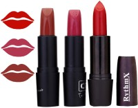 Rythmx OTG Coffee Brown,Hot Pink,deep Red, Colour Shades Lipstick(12 g, 1284 Multicolor)