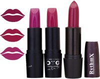 Rythmx OTG Fancy Charming Pink,Loutas Pink,Wine,Colour Shades Lipstick 5(12 g, Multicolor,)