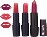 Rythmx OTG Rosty Red,Hot Red,Wine Colour Shades Lipstick 7(12 g, Multicolor,)