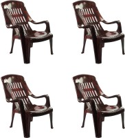 Cello Plastic Outdoor Chair(R-Wood, Set of 4)
