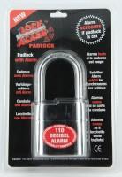 Lock Alarm Lock 2104 Padlock(Black & Red)