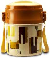 Milton Odyssy-Brown And Off White 4 Containers Lunch Box