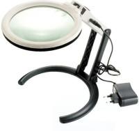 Star Magic Ac/Dc Desktop 1.8X 5X Magnifying Glass(White)