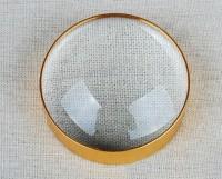 Pia International Desktop 10X Magnifying Glass(Gold)