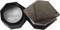 Abdullah Hexagon Loupe 10x Magnifying Glass(Black//Nickel)