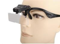 Star Magic Dual- Spacs And Headband Interchangeable Magnifier 1x ,1.5x, 2x, 2.5x, 3.5x Head Magnifier(Black)