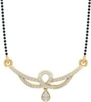 Jewels5 Ambar 18kt Diamond Yellow Gold Mangalsutra Tanmaniya(Rhodium Plated)