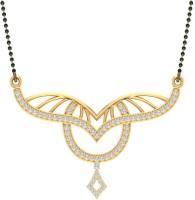 Jewels5 Kalindi 18kt Diamond Yellow Gold Mangalsutra Tanmaniya(Rhodium Plated)