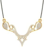Jewels5 Atreyi 18kt Diamond Yellow Gold Mangalsutra Tanmaniya(Rhodium Plated)
