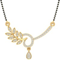 Jewels5 Agrata 18kt Diamond Yellow Gold Mangalsutra Tanmaniya(Rhodium Plated)