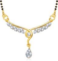 VK Jewels VK Jewels Eshnika Gold and Rhodium plated Mangalsutra Pendant Alloy Mangalsutra