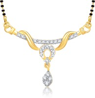 VK Jewels VK Jewels Dwisha Gold and Rhodium plated Mangalsutra Pendant Alloy Mangalsutra