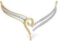 Astrum Diamonds Sparkling Curvy Mangalsutra 9kt Diamond Yellow Gold Mangalsutra Tanmaniya