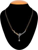 American Diamond Delightful Copper, Brass Mangalsutra