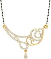 Jewels5 Kashtha 18kt Diamond Yellow Gold Mangalsutra Tanmaniya(Rhodium Plated)