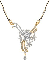 Alysa Floral Diva Alloy, Silver Mangalsutra