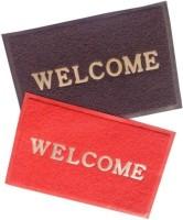 Attractive Homes PVC (Polyvinyl Chloride) Door Mat(Red, Brown, Large)
