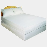 Trance Home Linen Zippered Single Size Waterproof Mattress Protector(White)