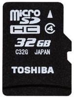 Toshiba 32 GB MicroSDHC Class 4 15 MB/s  Memory Card