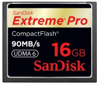 SanDisk Extreme Pro 16 GB Compact Flash 90 MB/s  Memory Card