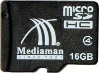 Mediaman 16 GB MicroSD Card Class 4  Memory Card