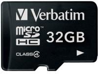 Verbatim 32 GB MicroSD Card Class 4 4 MB/s  Memory Card