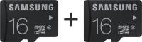SAMSUNG Standerd 2 Pcs Combo 16 GB MicroSDHC Class 10 24 MB/s  Memory Card