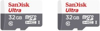 SanDisk Ultra 2 Pcs Combo 32 GB MicroSDHC Class 10 48 MB/s  Memory Card