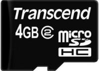 Transcend 4 GB MicroSD Card Class 2  Memory Card