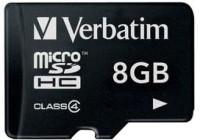 Verbatim 8 GB MicroSDHC Class 4 4 MB/s  Memory Card