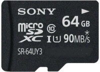 Sony 64 GB MicroSDHC Class 10 90 MB/s  Memory Card(With Adapter)