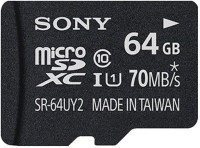 SONY 64 GB MicroSDXC Class 10 70 MB/s  Memory Card(With Adapter)