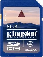 Kingston 8 GB SDHC Class 4 20 MB/s Memory Card