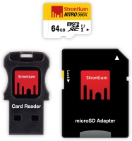 Strontium Nitro 64 GB SDXC Class 10  Memory Card(With Adapter)