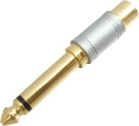 MX TS Mono Jack P-38 to RCA Composite PEARL CHROME PLATED Adaptor(Gold, Silver)