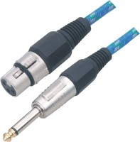 MX XLR Female to Mono Jack Cable - 3mtrs Cable(Black, Blue)