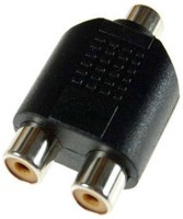 Prodx 2Rca female to rca female audio converter pack of-2pes Connector(Black)