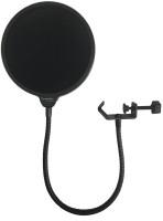 Powerpak Studio Microphone Mic Wind Screen Swivel Mount, 360° Flexible Gooseneck Holder Pop Filter(Black)